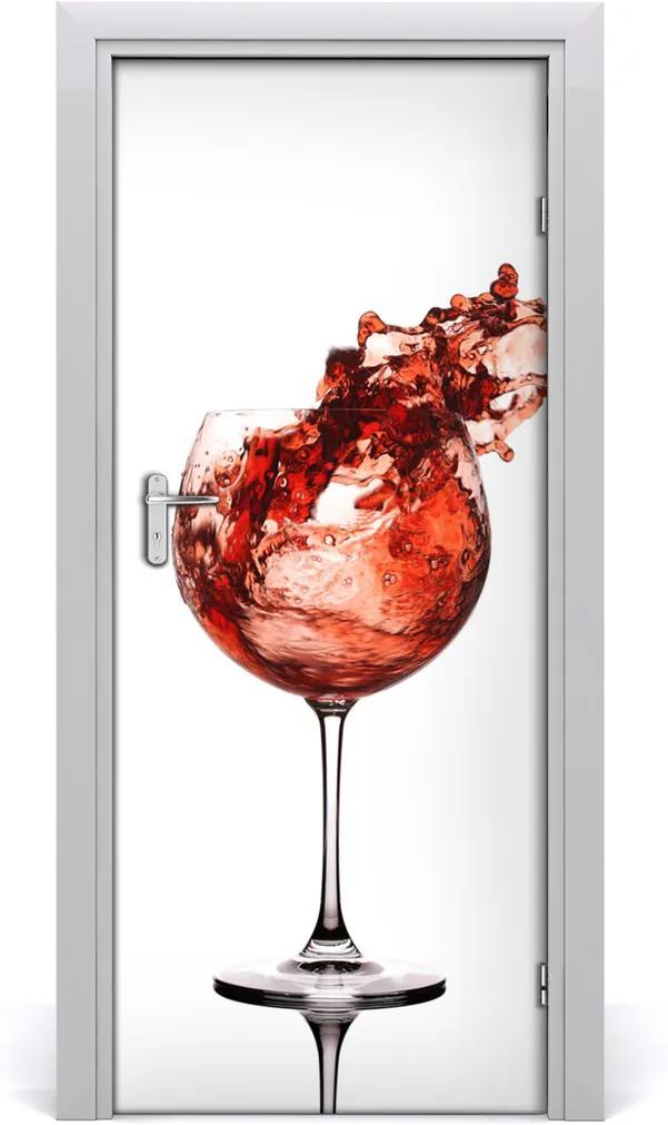 Samolepiace fototapety na dvere  poháre vína