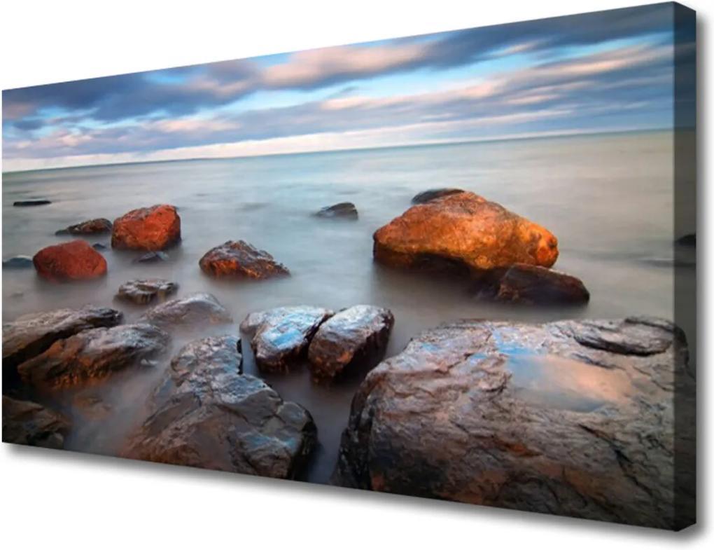 Obraz Canvas Kameny moře krajina