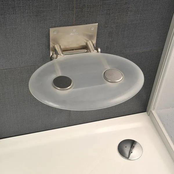 Ravak sedátko do sprchy Ovo-P clear (číre)