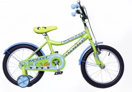 "Neuzer 16"" detský bicykel pre chlapcov BMX WILDWAGON zelená 2018"