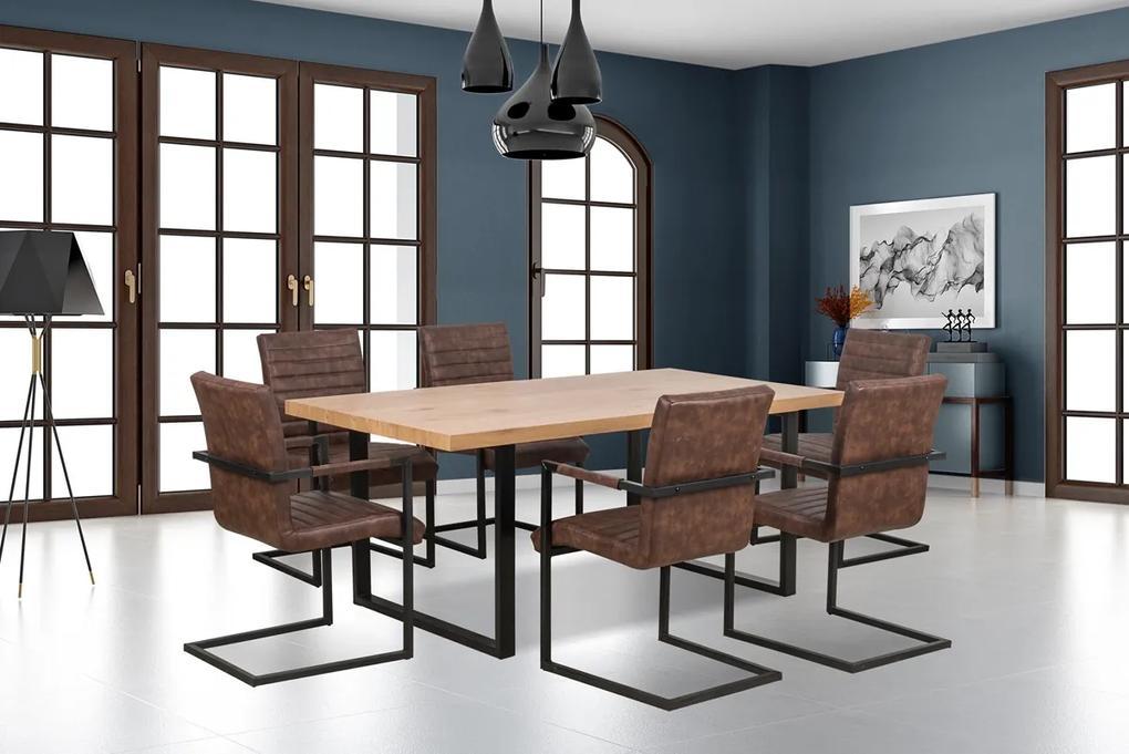 HALMAR Torres jedálenský stôl dub zlatý / čierna