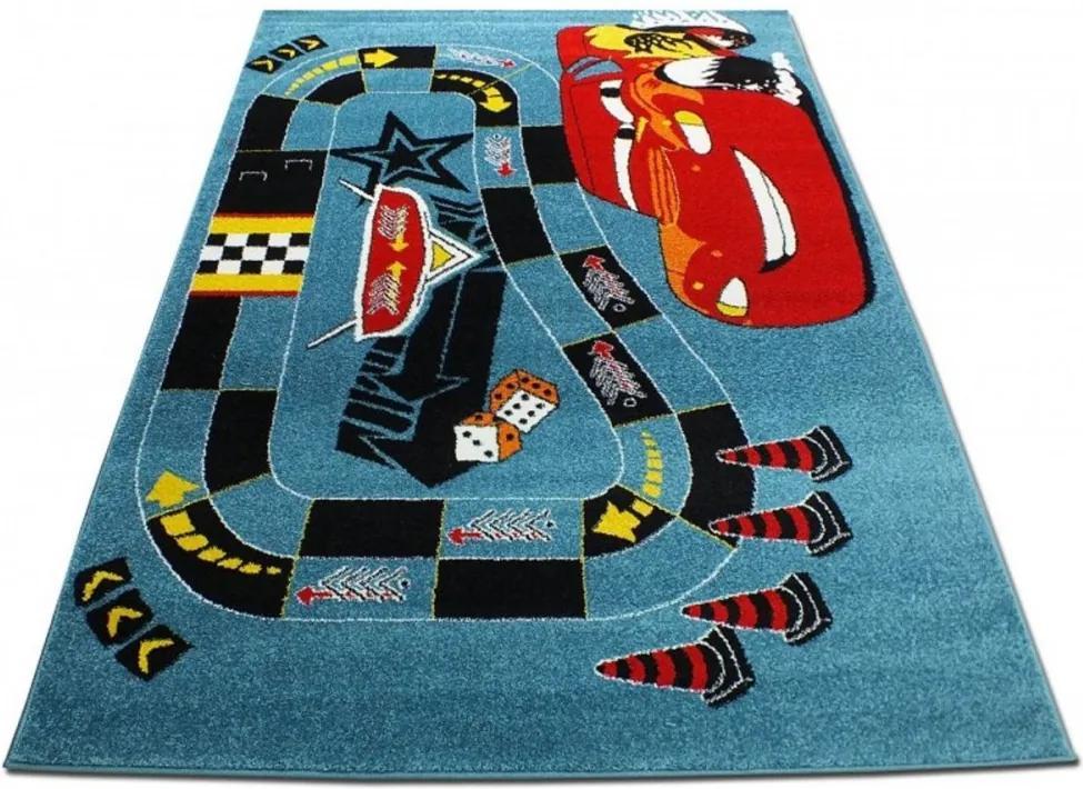 Detský koberec Cars modrý, Velikosti 200x290cm
