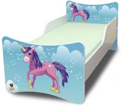 MAXMAX Detská posteľ 160x90 cm - Jednorožec V OBLAKOCH 160x90 pre dievča NIE
