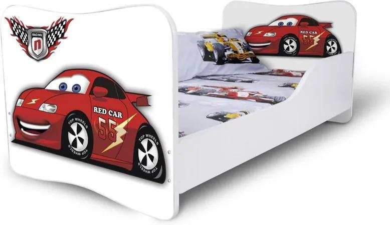 MAXMAX Detská posteľ RED CAR + matrac ZADARMO 180x80 pre chlapca NIE