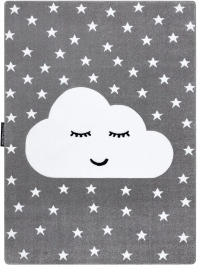 Detský kusový koberec Mráčik sivý, Velikosti 180x270cm