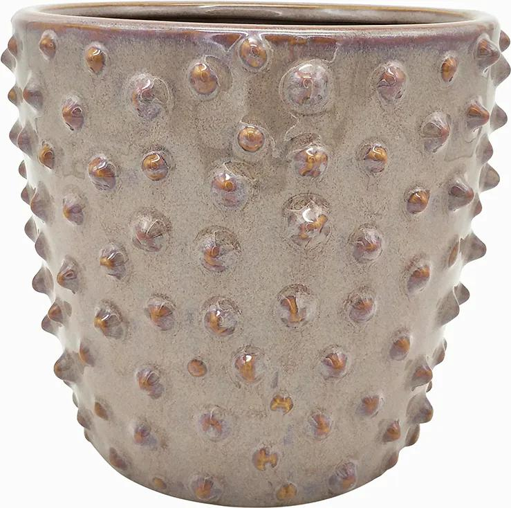 PRESENT TIME Sada 3 ks Ružová keramická váza Spotted veľká