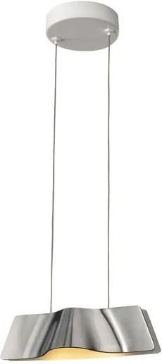 Závesné svietidlo SLV WAVE PENDANT, česaný hliník 147836