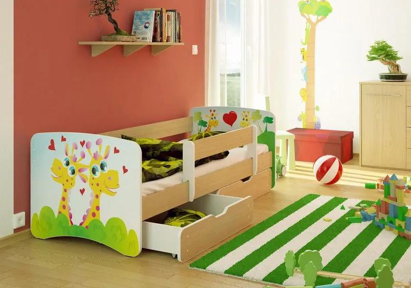 MAXMAX Detská posteľ ŽIRAFA funny 160x80 cm - bez šuplíku 160x80 pre všetkých NIE