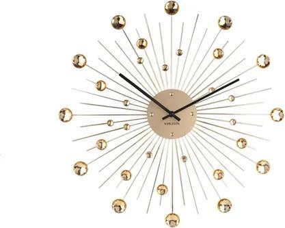 Karlsson Nástenné hodiny - Karlsson Sunburst Crystal Large Gold, OE 50 cm