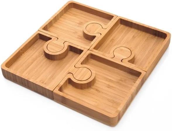 Sada 4 servírovacích misiek Bambum Karo Puzzle