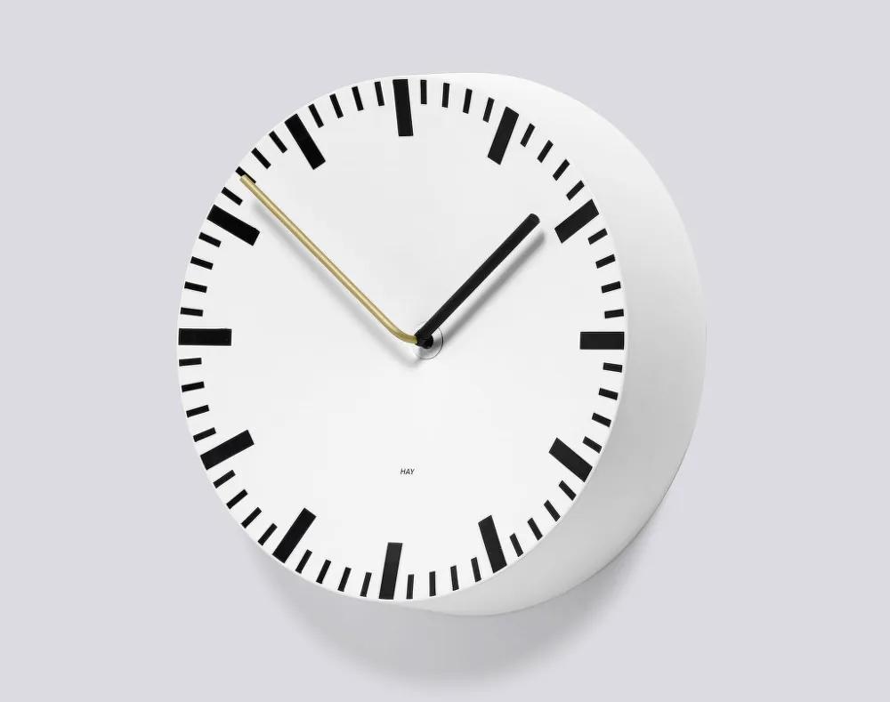 HAY Nástenné hodiny Analog, biele