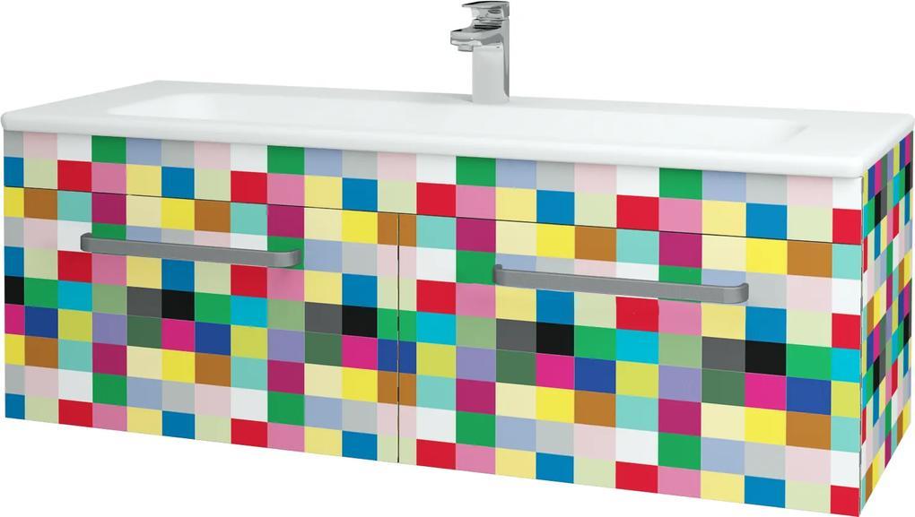 Dřevojas - Koupelnová skříň ASTON SZZ2 120 - IND Individual / Úchytka T01 / IND Individual (149307A)