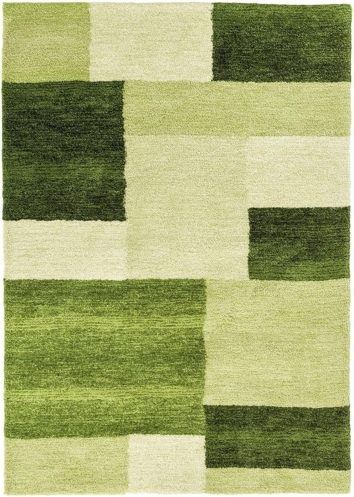 Astra - Golze koberce Kusový koberec Livorno 151030 Design Green - 70x140 cm