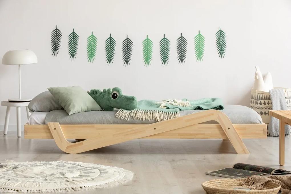 MAXMAX Dětská postel z masivu ZIG - 200x80 cm 200x80 pre dievča|pre chlapca|pre všetkých NIE