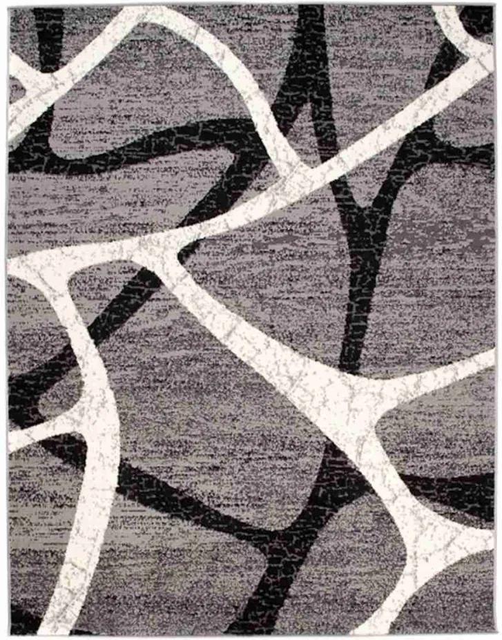 Kusový koberec PP Telos šedý, Velikosti 120x170cm