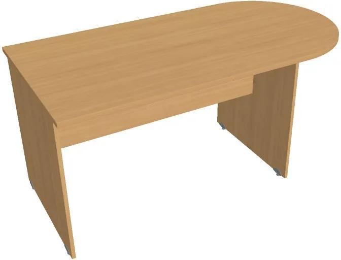 Stôl rokovací ukončený oblúkom, 1600 x 800 x 755 mm, buk