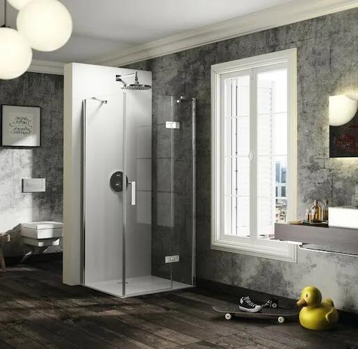 Sprchové dvere Huppe jednokrídlové 75 cm, sklo číre, chróm profil, pravé ST0706.092.322