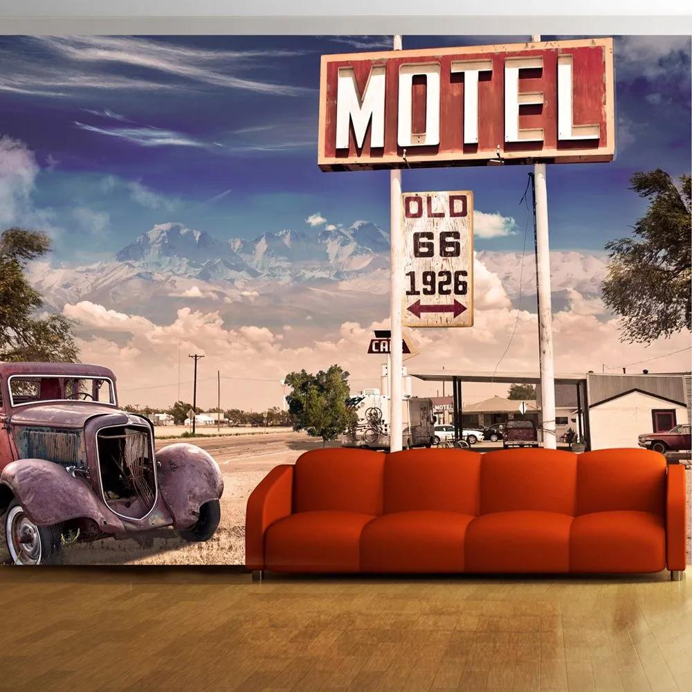 Fototapeta - Old motel 350x245