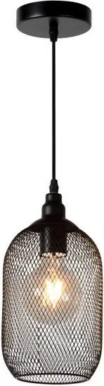 Lucide 43404/15/30 Moderné závesné svietidlo MESH Pendant E27 D15cm H 29cm čierne
