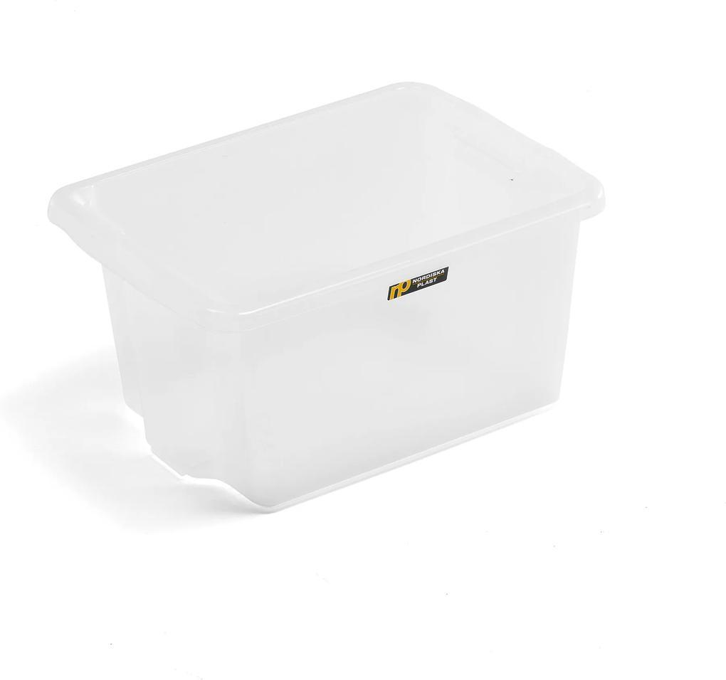 Úložný box, Š 365 x D 500 x V 260 mm, 33 L, priehľadný