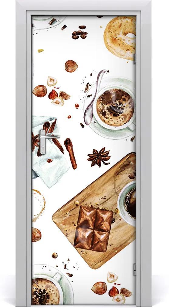 Fototapeta na dvere samolepiace  raňajky