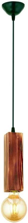 Závesné svietidlo z hrabového dreva Dikdörtgen