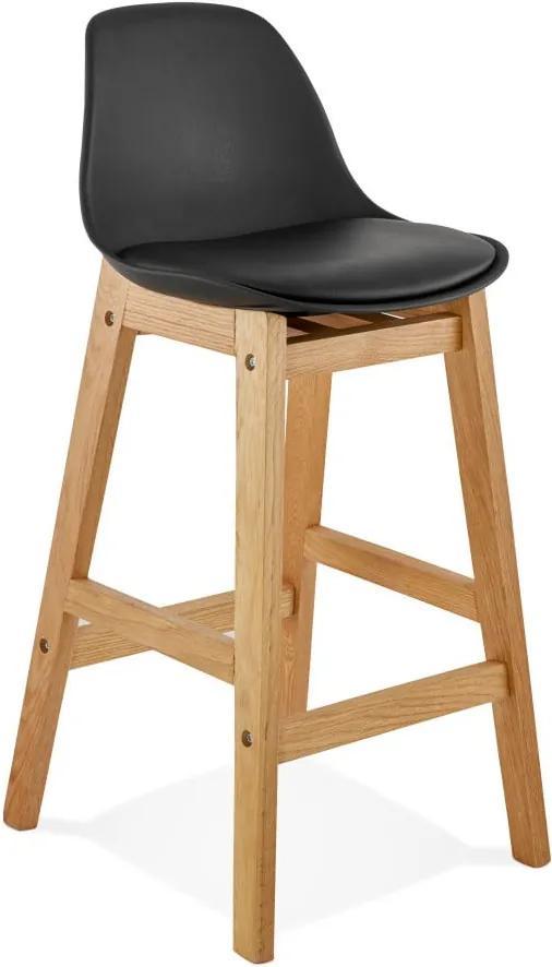 Čierna barová stolička Kokoon Elody, výška 86,5 cm