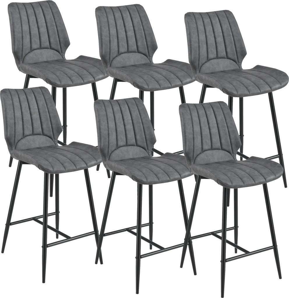 [en.casa] Barová stolička 6 x AACM-9035 - koženka