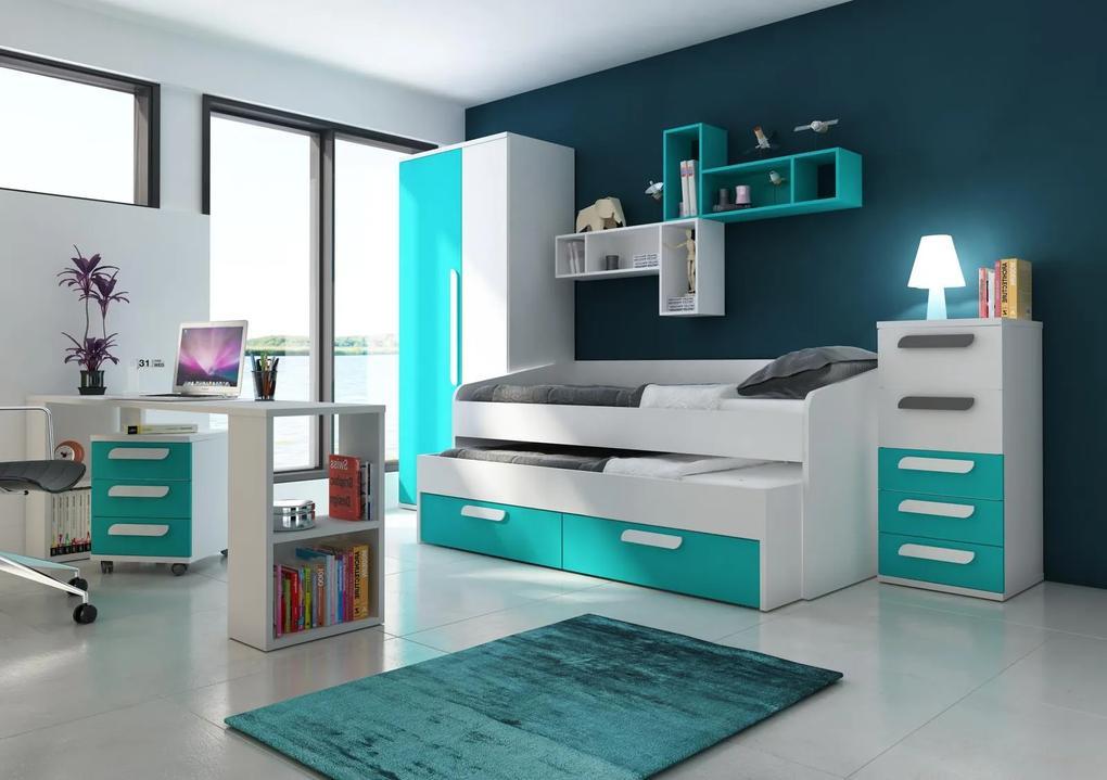 0ba701ffce2f Detská izba pre chlapcov B - ponuka dielov - Detská posteľ s prístelkou