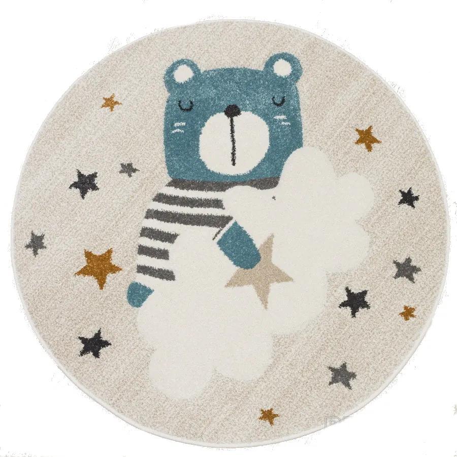 Sintelon koberce Kusový koberec Vegas Kids 03/WKE kruh - 120x120 (průměr) kruh cm