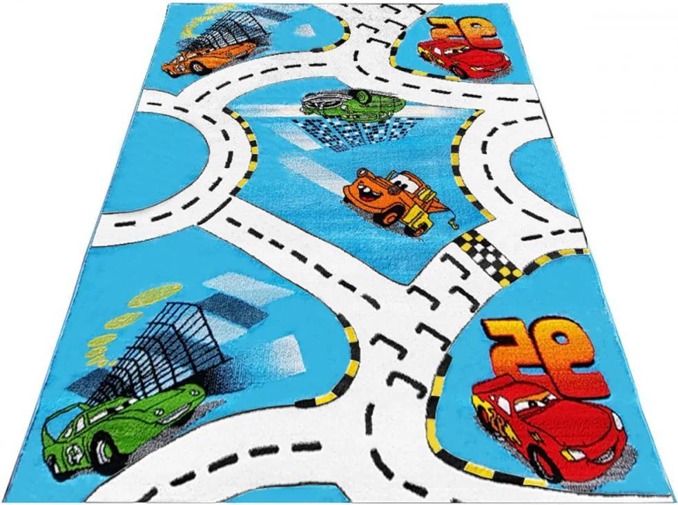 Detský kusový koberec Cestičky modrý 2, Velikosti 240x330cm