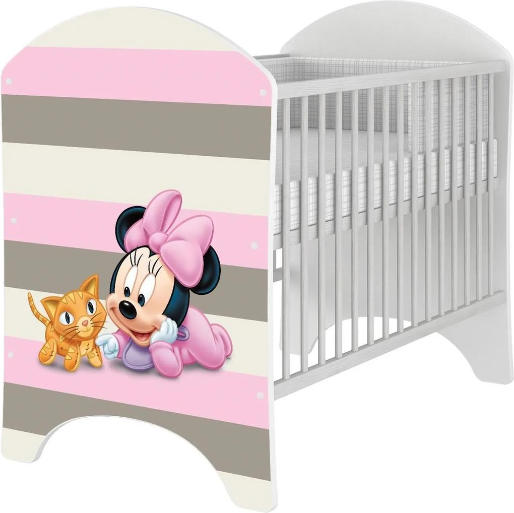MAXMAX Detská postieľka Disney - MYŠKA MINNIE BABY pre dievča