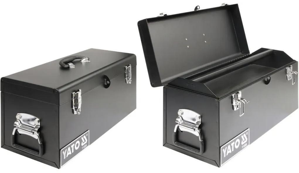 YATO Oceľový kufor na náradie 510x220x240 mm