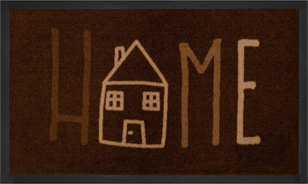 Hanse Home Collection koberce Protiskluzová rohožka Printy 103799 Brown Creme - 45x75 cm