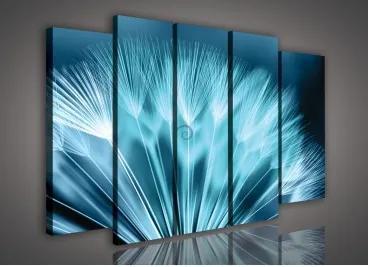 Obraz na plátne viacdielny - OB2717 - Púpava modrá 150cm x 100cm - S12