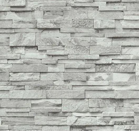 Vliesové tapety, kameň pieskovec sivý, Origin 236330, P+S International, rozmer 10,05 m x 0,53 m