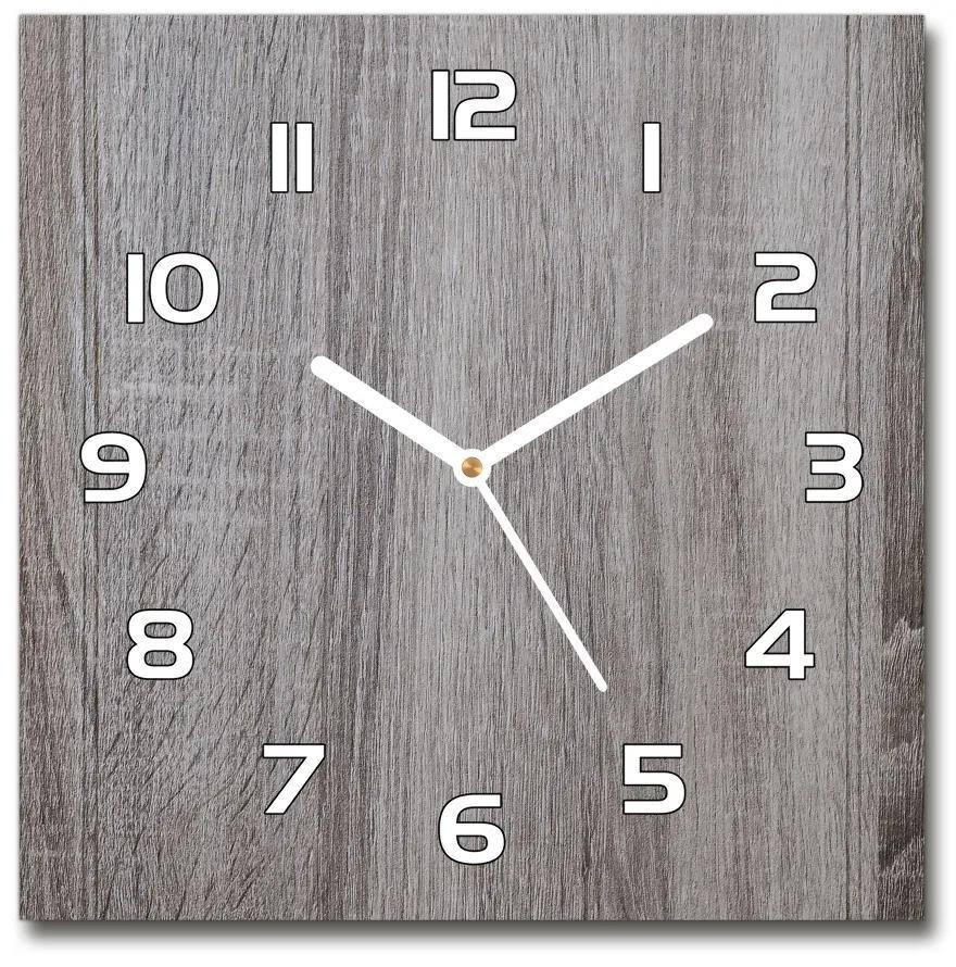 Sklenené nástenné hodiny štvorec Drevo pl_zsk_30x30_f_136849989