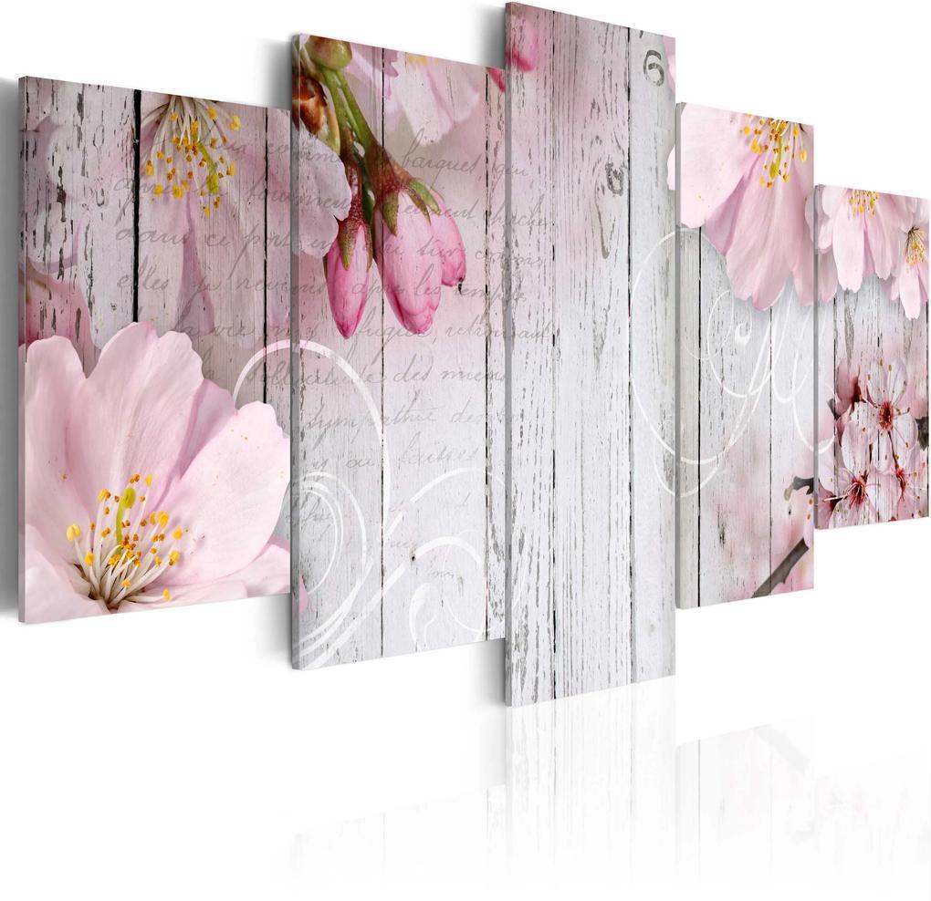 Obraz - Subtlety of Flowers 100x50
