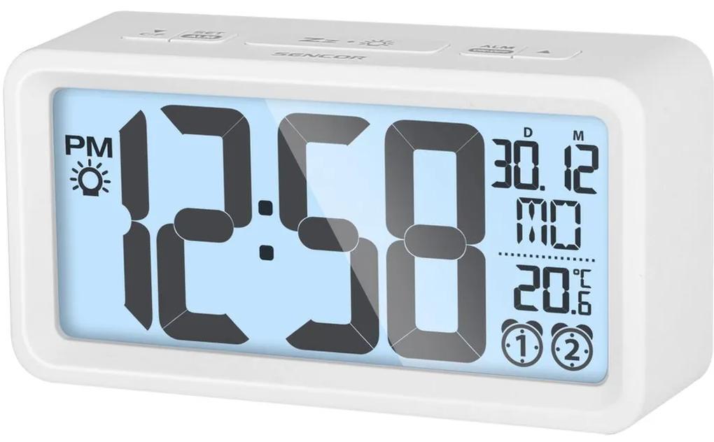 SENCOR SDC 2800 W hodiny s budíkom biele 35050545