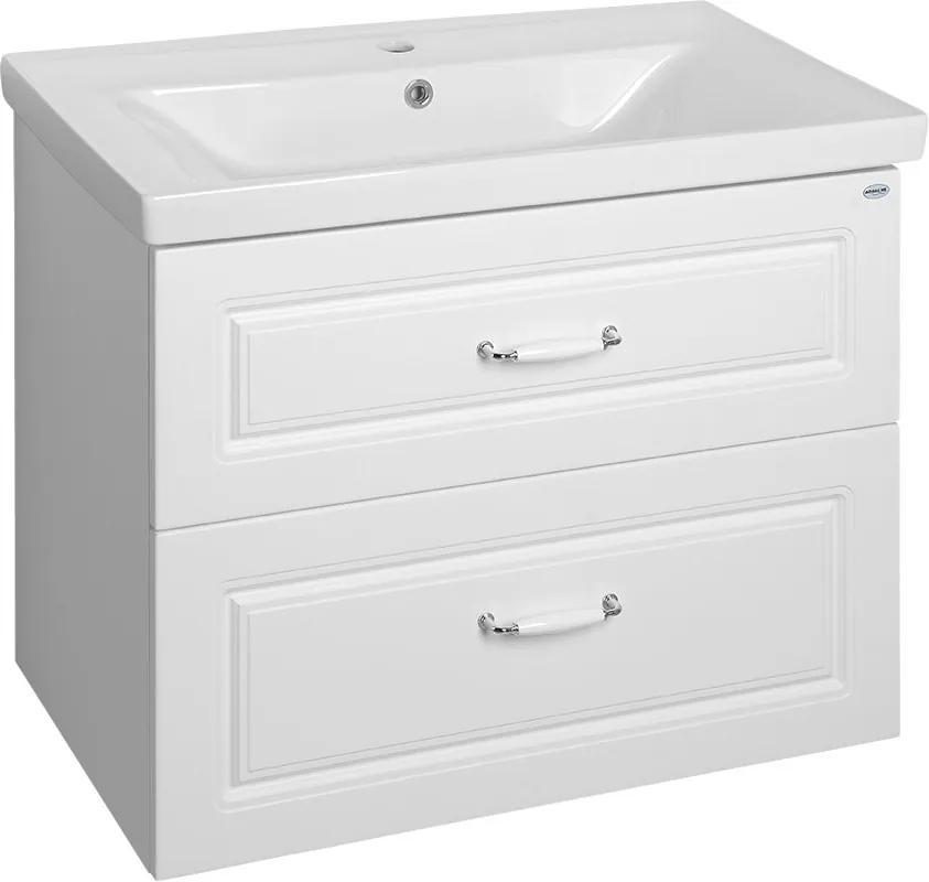 Favolo FV280 umývadlová skrinka 76,5x60x44,6 cm, biela matná