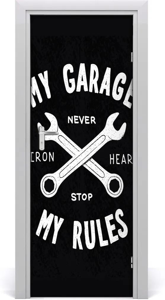 Fototapeta na dveře Moje garáž