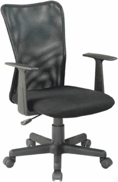 TEMPO KONDELA Remo New kancelárska stolička s podrúčkami čierna