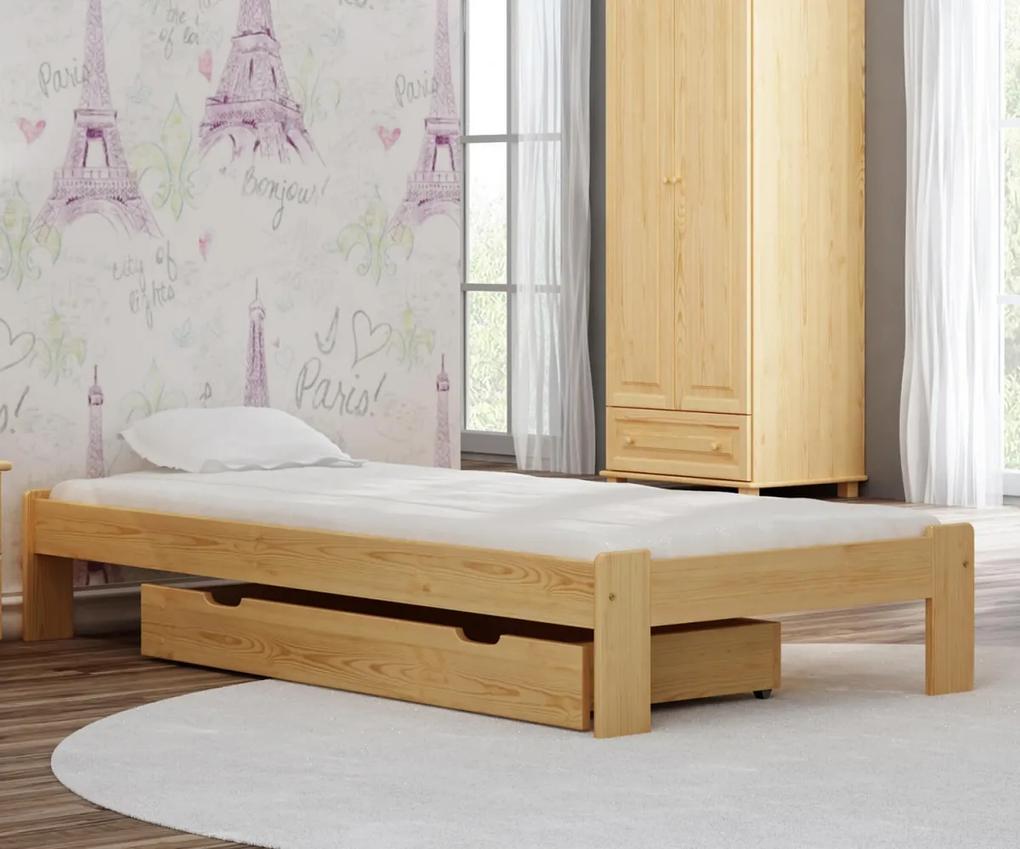 AMI nábytok Posteľ borovica Adéla 90x200cm