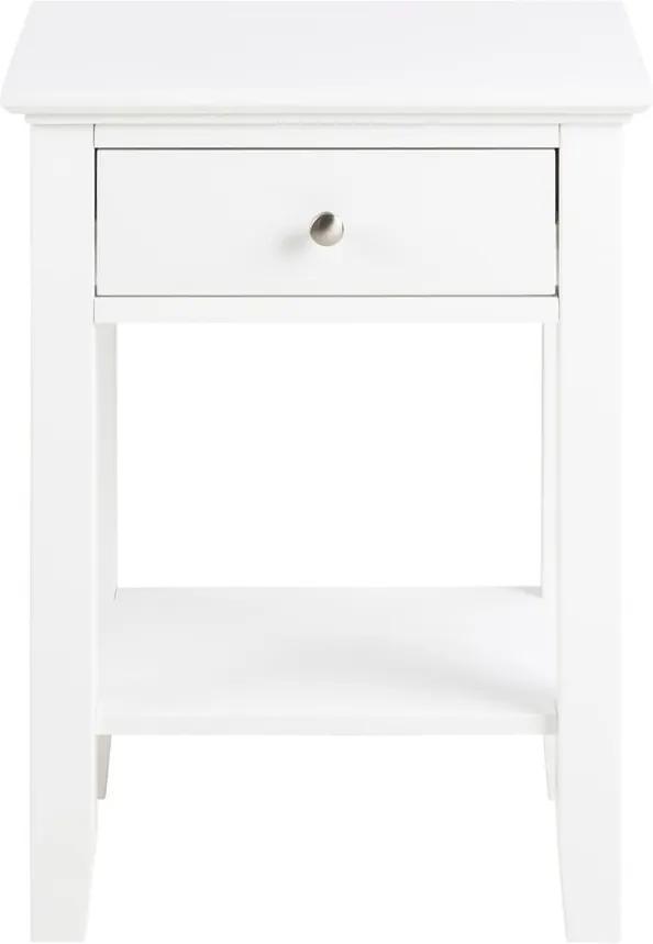 Biely nočný stolík s 1 zásuvkou Actona Linnea