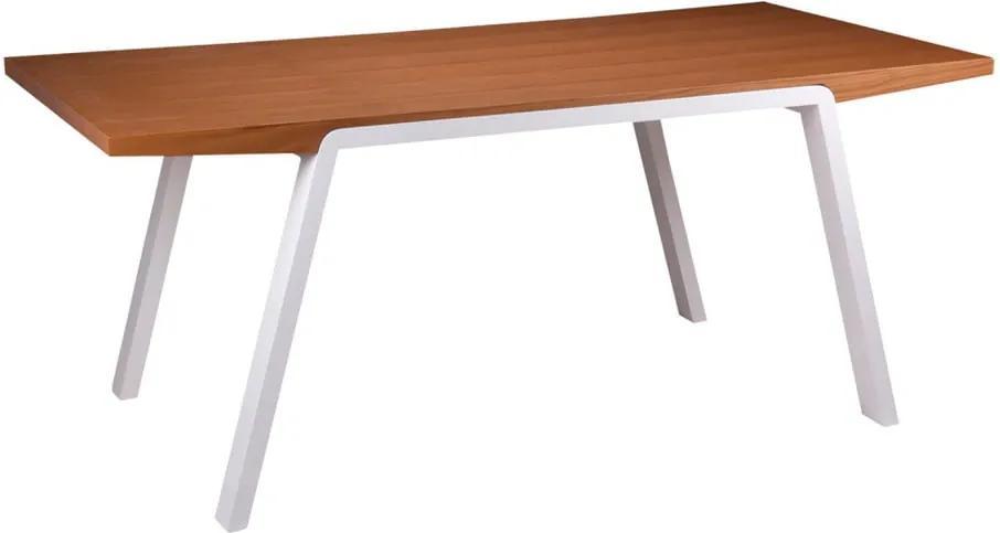 Jedálenský stôl vdekore dubového dreva sbielymi nohami sømcasa Stela, 180×90cm