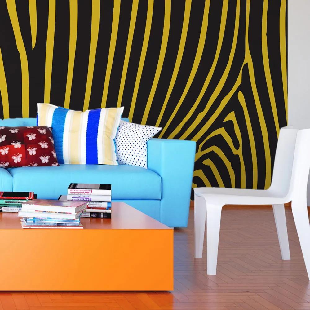 Fototapeta - Zebra pattern (yellow) 200x154