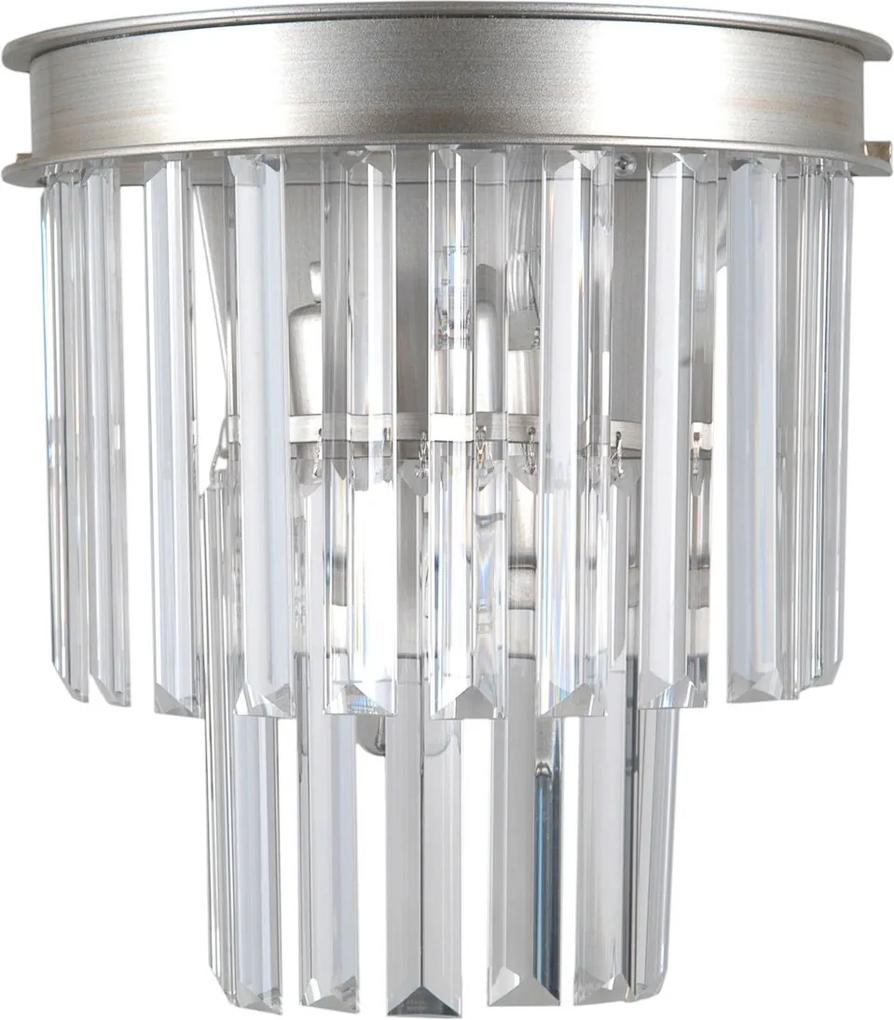 Italux WL-44372-2A-SLVR-BRW prisadený luster Verdes 2x40W | E14