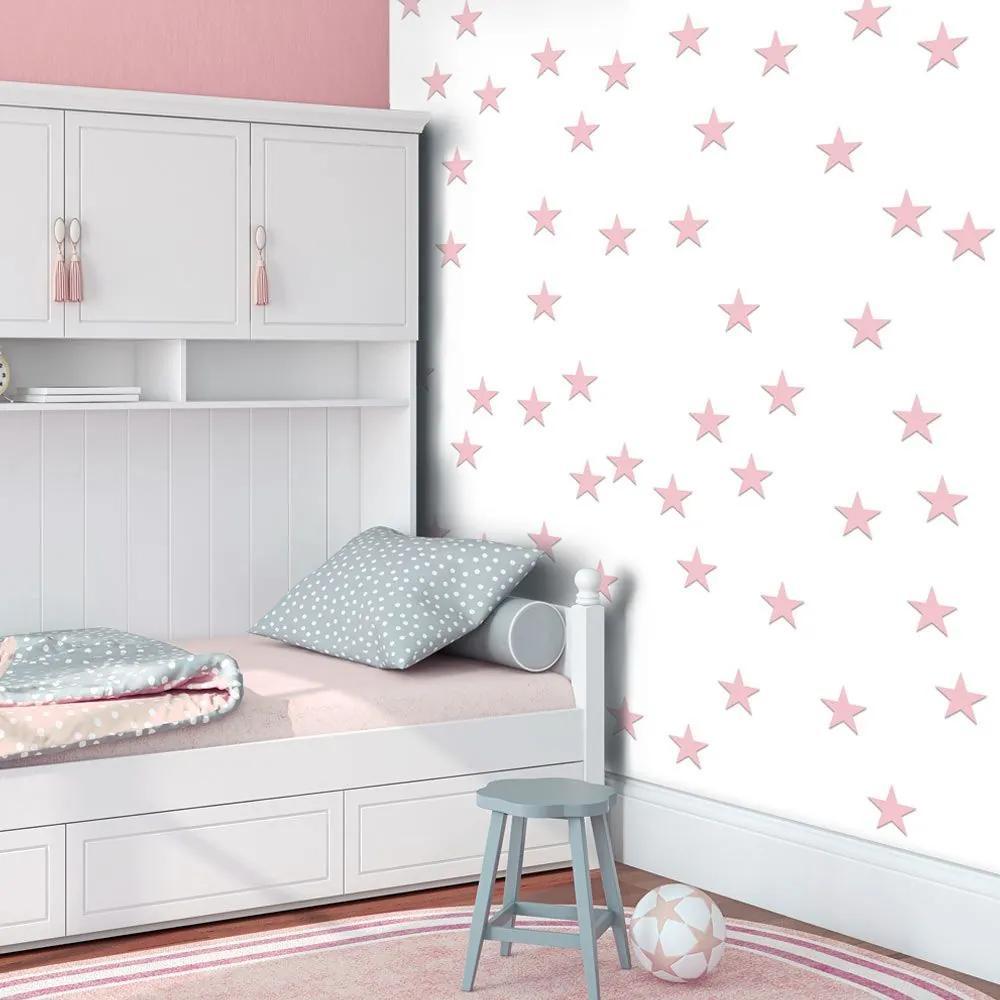 Fototapeta - Pink Stars 50x1000