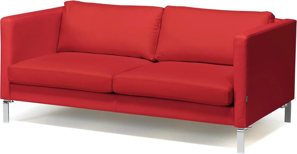 Pohovka Neo, 2,5-miestna, koža, červená