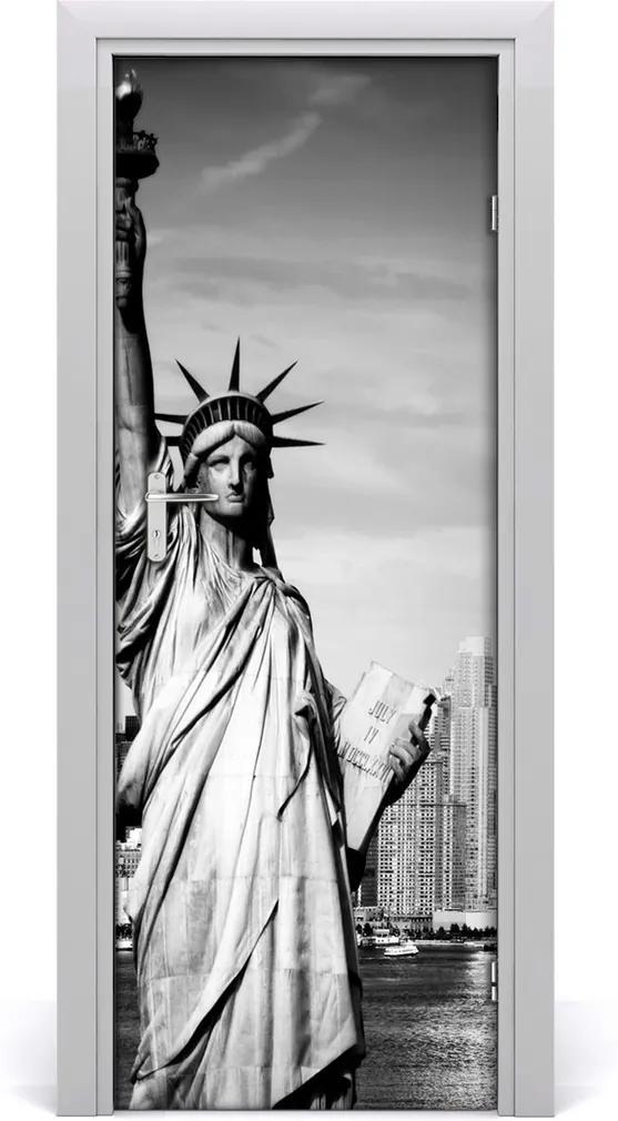 Fototapeta samolepiace na dvere  socha Slobody